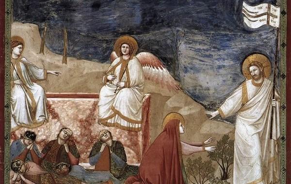 Giotto, Resurrezione e Noli me tangere, 1303-1305 circa. Cappella degli Scrovegni, Padova